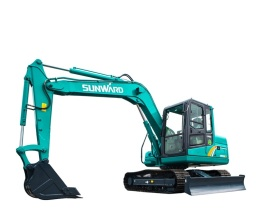 山河智能SWE80E9小型挖掘机高清图 - 外观