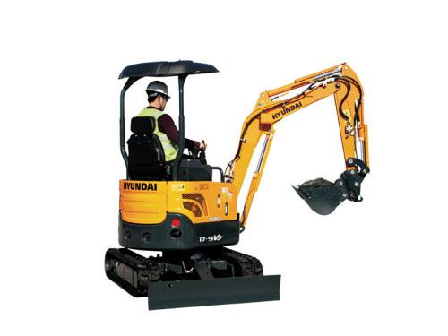 现代重工R17-9VS迷你挖掘机