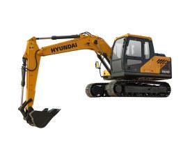 现代R110 VS挖掘机