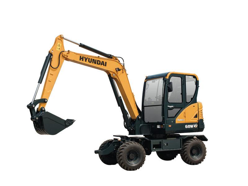 现代R60W VS轮式挖掘机高清图 - 外观