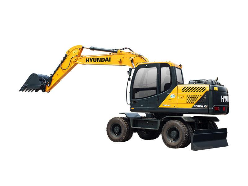 现代重工R150WVS轮式挖掘机