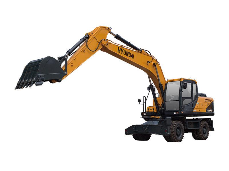 现代重工R210WVS轮式挖掘机