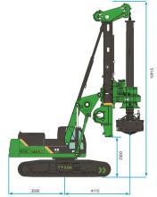 泰信机械KR285C矮版旋挖钻机高清图 - 外观