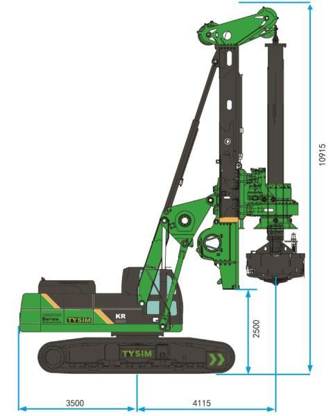泰信机械KR285C矮版旋挖钻机
