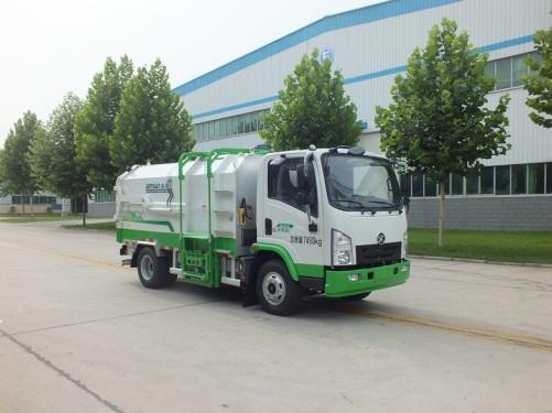 森源重工SMQ5070ZZZBEV型纯电动自装卸式垃圾车