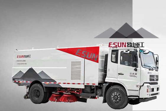易山重工ESN5180TSL湿式扫路车路面扫路车环卫扫路车清扫车