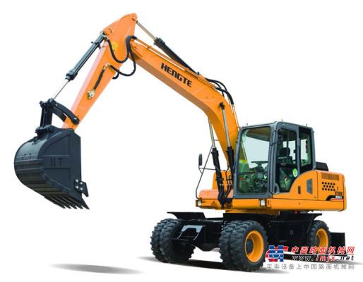 恒特HT145W轮式挖掘机 全液压挖机 轮挖