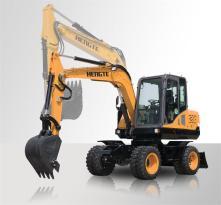 恒特HT75W轮胎式挖掘机 小型挖掘机 轮挖