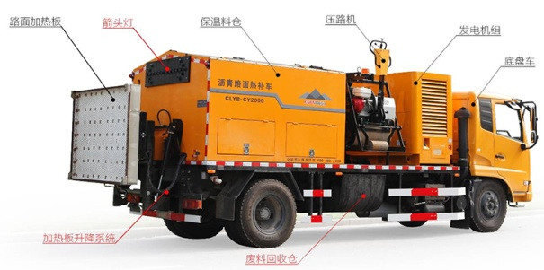 易山重工ESN5161TXB预防性养护快速再生加热保温多功能养护车坑槽修补