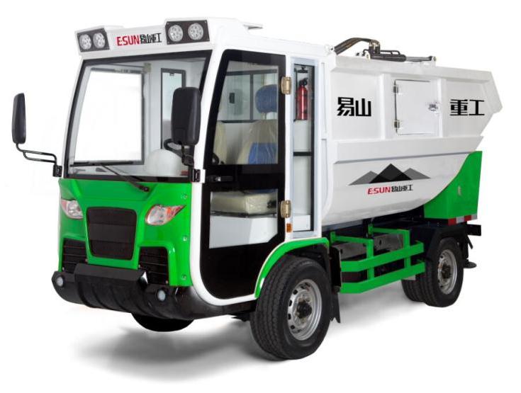 易山重工ESN H91后挂式垃圾收集车垃圾机垃圾车高清图 - 外观