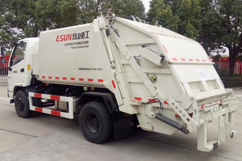 易山重工ESN5080ZYS压缩式垃圾车高清图 - 外观