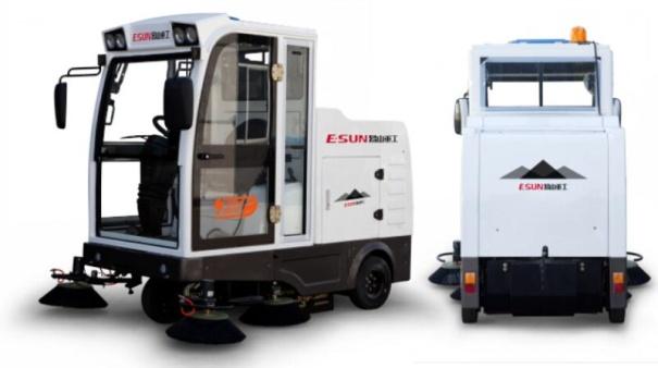 易山重工ESN E800LD全封闭自卸式电动扫地扫路车48V锂电池