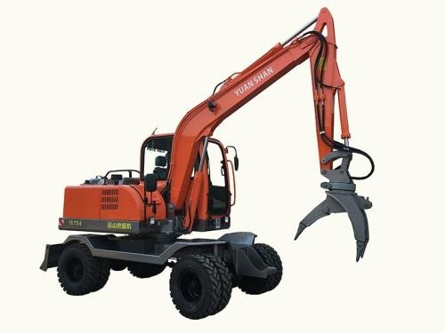 远山YS775-8带夹石器轮式挖掘机