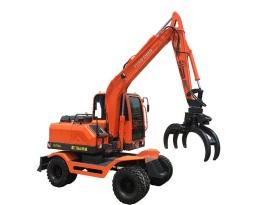 远山YS775-8带夹甘蔗拾装器轮式挖掘机