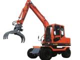 远山YS775-8带夹木器轮式挖掘机