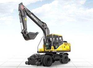勤牛QNLG150轮式挖掘机高清图 - 外观