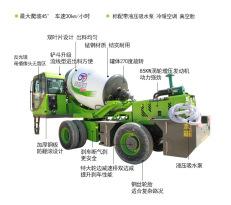 中科聚峰JF-3.5C自动上料搅拌车3.5方小型混凝土搅拌运输车水泥搅拌车