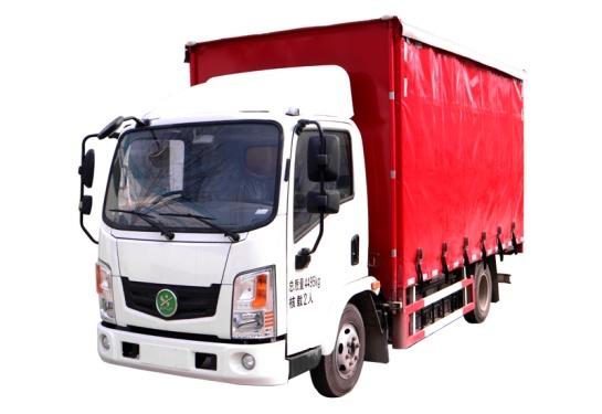 森源重工SMQ5041XXYBEV型纯电动侧布帘式运输车