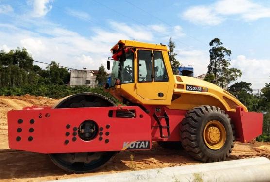 科泰重工KS286H-2全液压单钢轮压路机