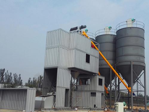 冠成机械HZN40集装箱斗提式混凝土搅拌站