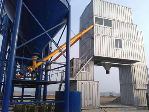 冠成机械HZN50集装箱斗提式混凝土搅拌站