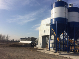 冠成机械HZN75集装箱斗提式混凝土搅拌站