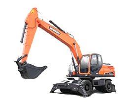 斗山DX210W-9C挖掘机