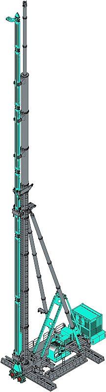 上海金泰SC55液压铣销搅拌钻机