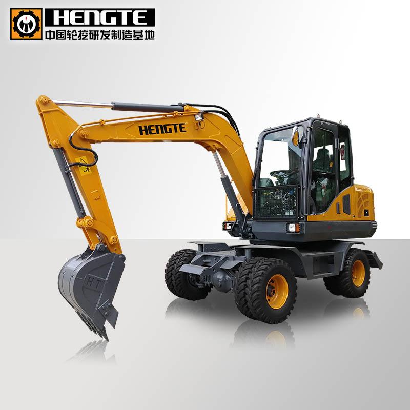 恒特HT75W轮式挖掘机 2019最新升级款高清图 - 外观