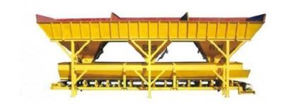 冠成机械PL1600D三斗一字型混凝土配料机高清图 - 外观