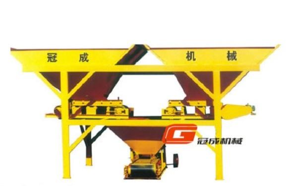 冠成机械PL1800/1200B三斗皮带式混凝土配料机