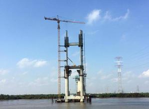 川建C8039水平臂塔式起重机高清图 - 外观