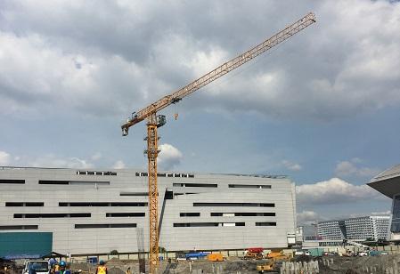 川建P6015(8t)平头式塔式起重机高清图 - 外观