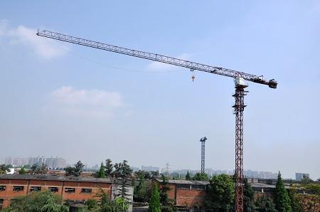川建P6015(6t)平头式塔式起重机高清图 - 外观