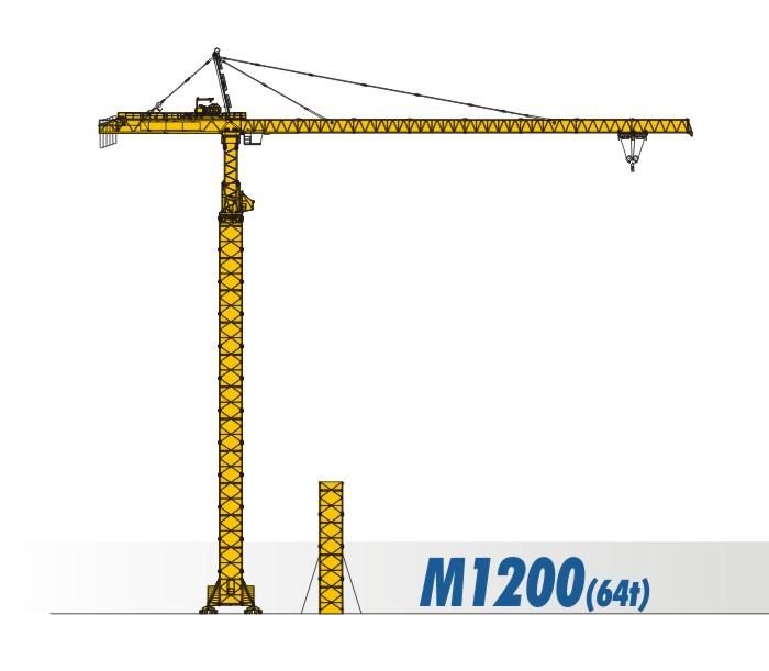 川建M1200(64t)水平臂塔式起重机高清图 - 外观