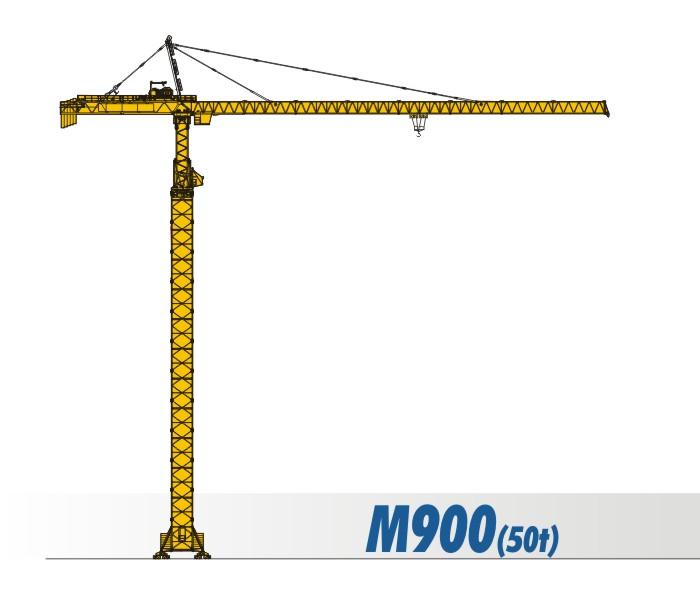 川建M900(50t)水平臂塔式起重机高清图 - 外观