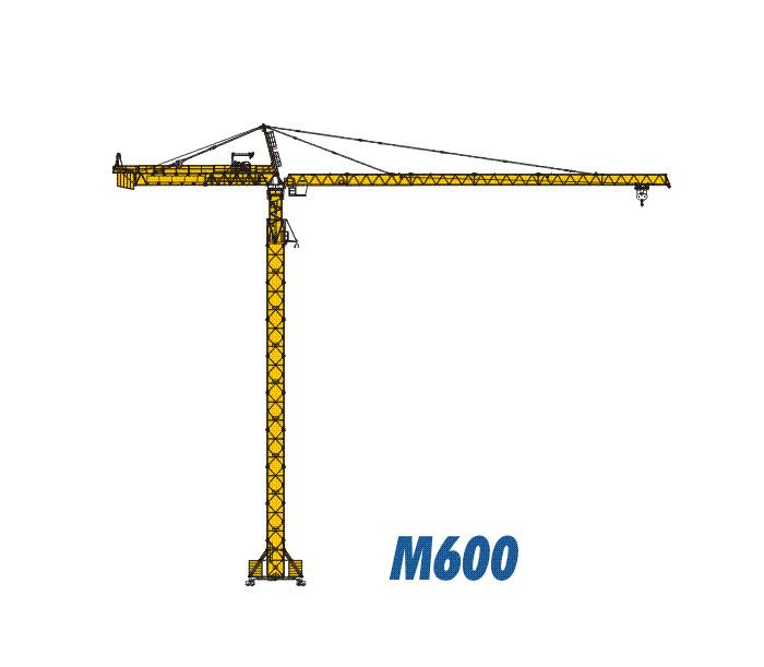 川建M600(20t)水平臂塔式起重机高清图 - 外观