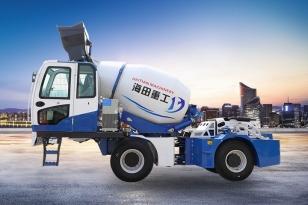 海田重工HT-3.6立方自上料搅拌机(蓝)