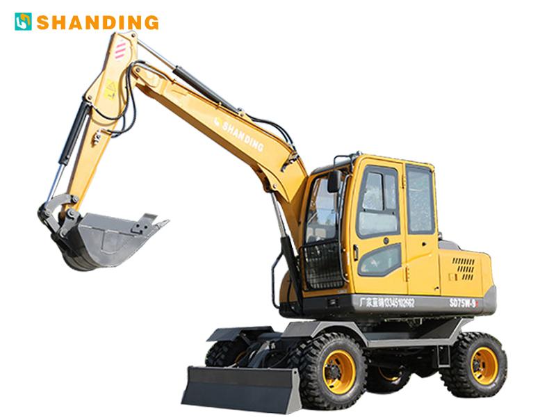 山鼎机械SD75W-9T轮式挖掘机高清图 - 外观