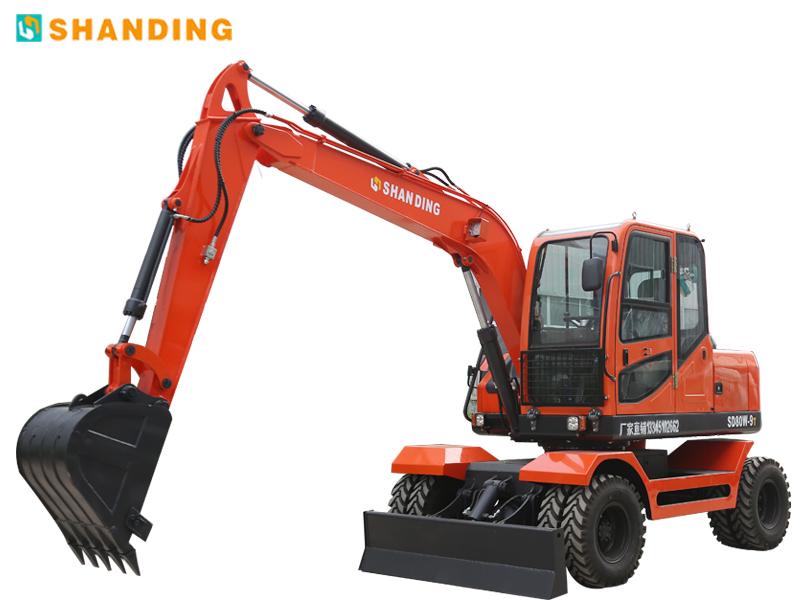 山鼎机械SD80W-9T轮式挖掘机高清图 - 外观