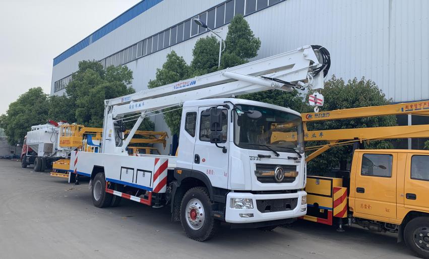 楚胜东风D9型18米折臂式高空作业车高清图 - 外观