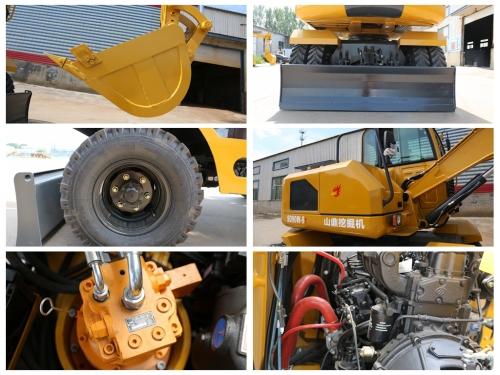 山鼎SD90W-9T轮式挖掘机细节图片