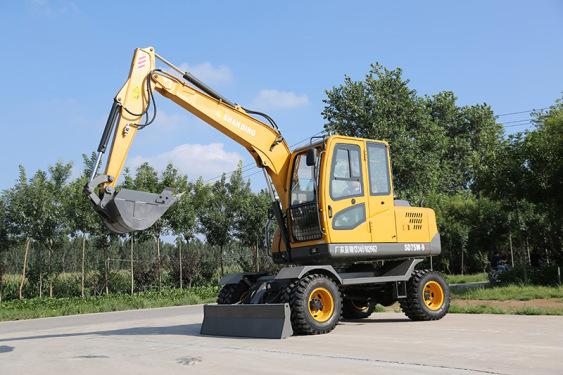 山鼎SD75W-9T轮胎式挖掘机外观图片