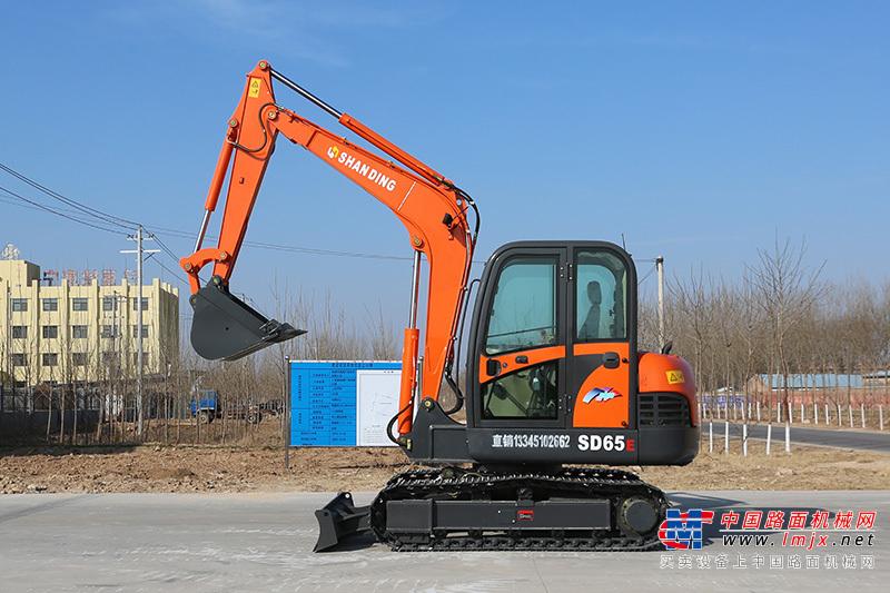 山鼎机械SD65E小型挖掘机高清图 - 外观