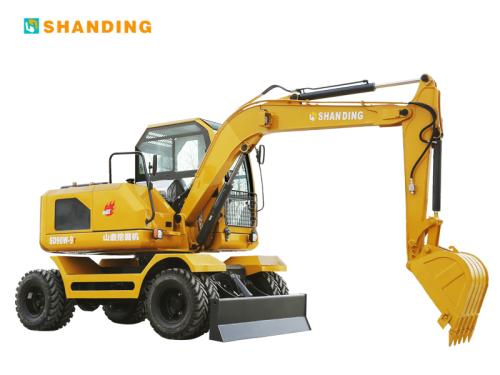 山鼎SD90W-9T轮式挖掘机外观