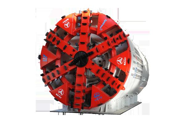 三一重工土压式盾构机高清图 - 外观