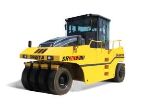 山推SR30T-3轮胎压路机高清图 - 外观