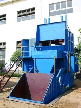 程力垂直式压缩垃圾站