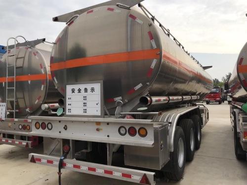 程力CLW9403GYYALV铝合金运油半挂车高清图 - 外观
