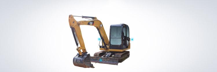 卡特彼勒305.5E2小型液压挖掘机外观